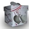 коробочка с матовой ламинацией, выборочной лакировкой, тиснением и полипропиленовым окошком