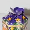 новогодняя коробка из плоского картона